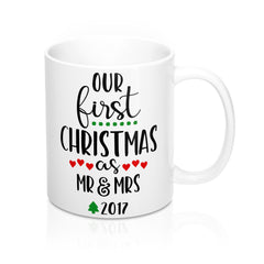 Our First Christmas As Mr & Mrs 2017 Mug