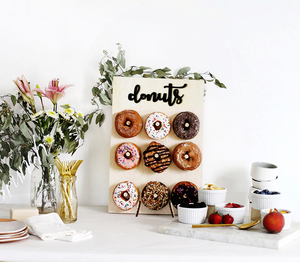Wooden Donut Stand