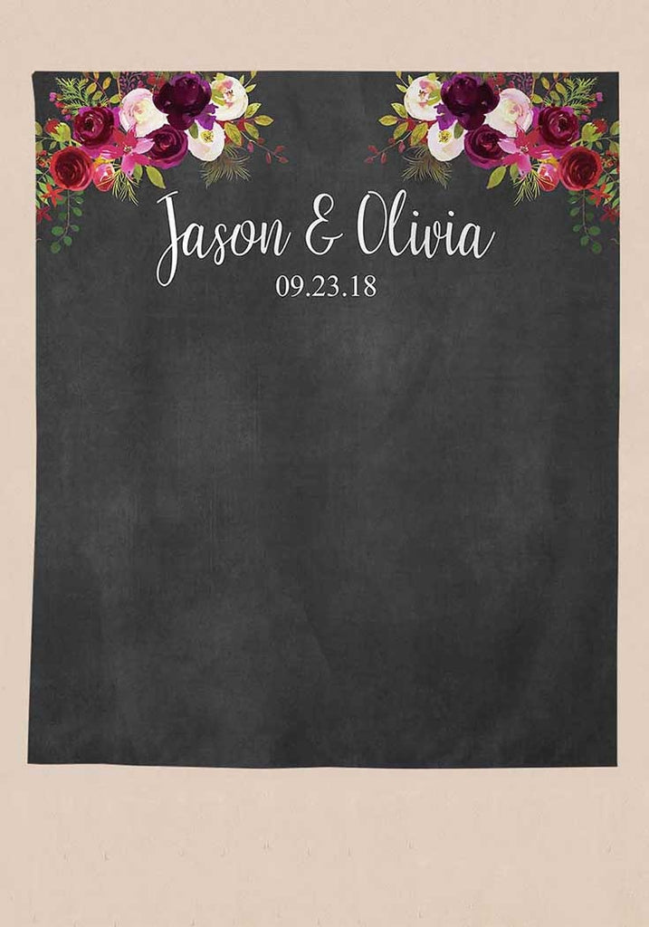 Personalised Wedding Backdrop