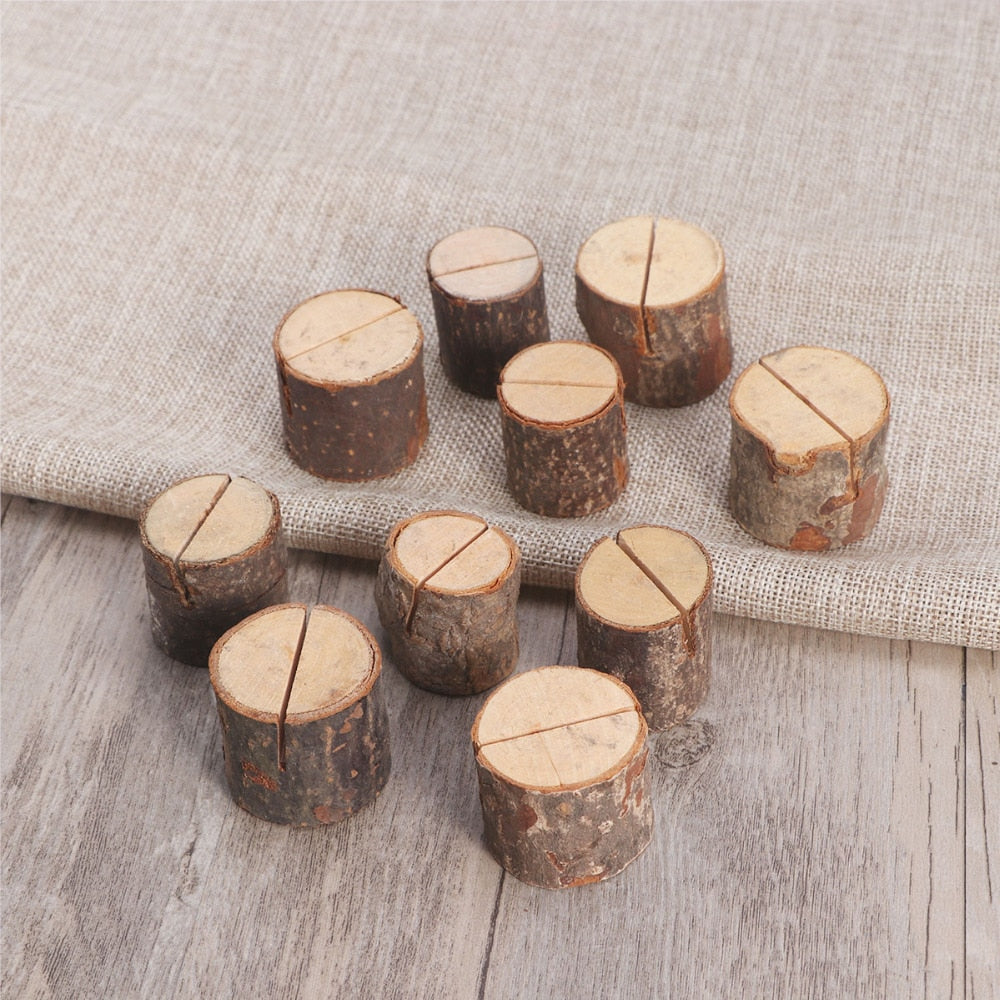 Rustic Wooden Table Number Holders