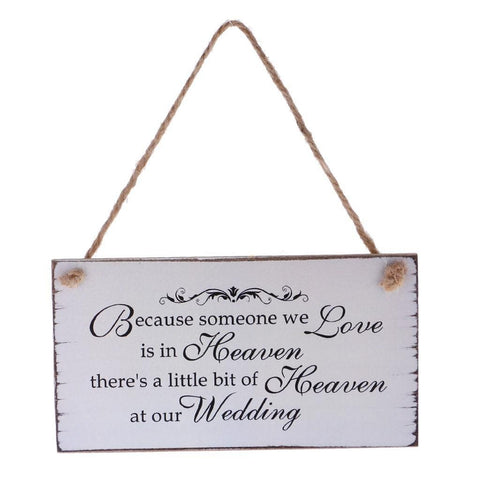 Wedding Memorial Hanging Sign