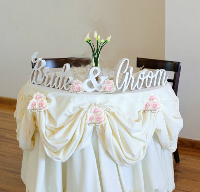 Bride & Groom 3pc 3D Table Letters