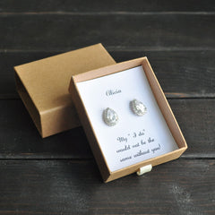 cb789e00870 Personalised Bridesmaid   MOH Proposal Earrings ...