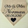 Image of Personalised Burlap Table Runner