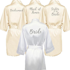 Personalised Morning of the Wedding Robes - Champagne