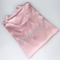 Personalised Morning of the Wedding Robes - Pink