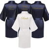 Image of Personalised Morning of the Wedding Robes - Navy