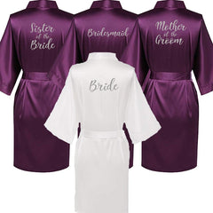 5afd2c6578c Personalised Morning of the Wedding Robes - Purple ...