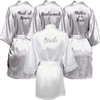Personalised Morning of the Wedding Robes - Silver