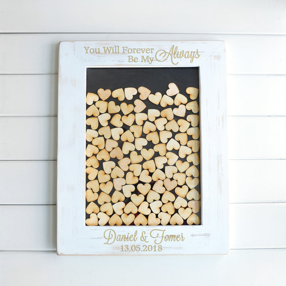 Rustic Personalised Drop Box Guest Book