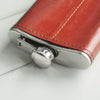 Image of Personalised Leather Wrapped 8oz Hip Flask