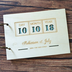 Personalised Wedding Date Guest Book