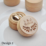 Personalised Circular Ring Box
