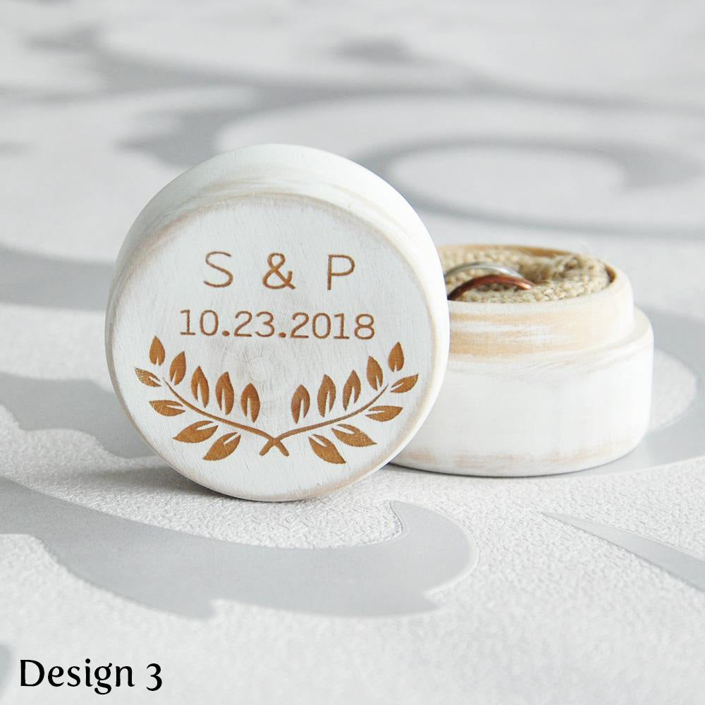 200dc24d29 Personalised Circular Ring Box – The Bride's Basket