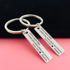 Personalised Drive Safe Keyring