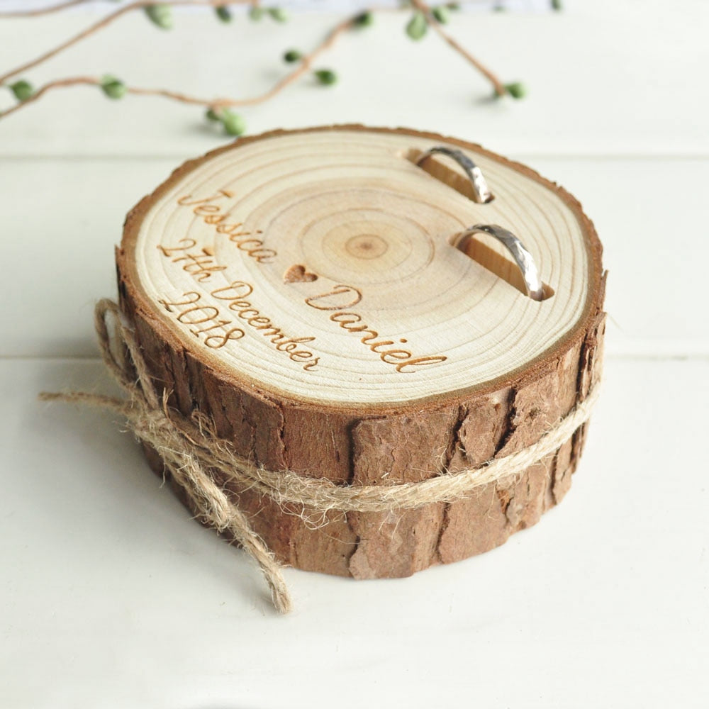 Personalised Wooden Wedding Ring Holder