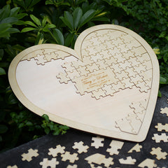 Personalised Heart Shaped 85pc Puzzle Guestbook