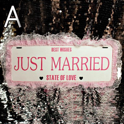 Just Married Car Plate