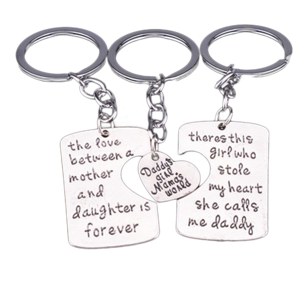 3pc Keychain Set Mother & Father of the Bride