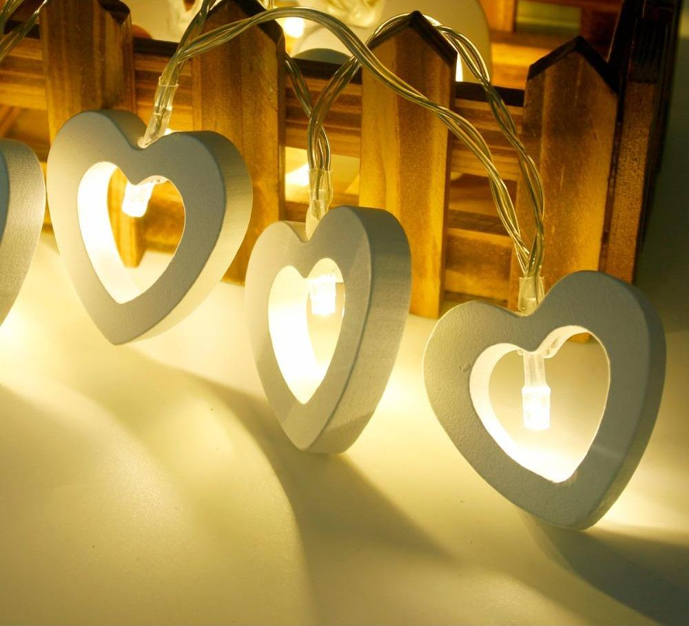 Heart Shaped LED Fairy Lights