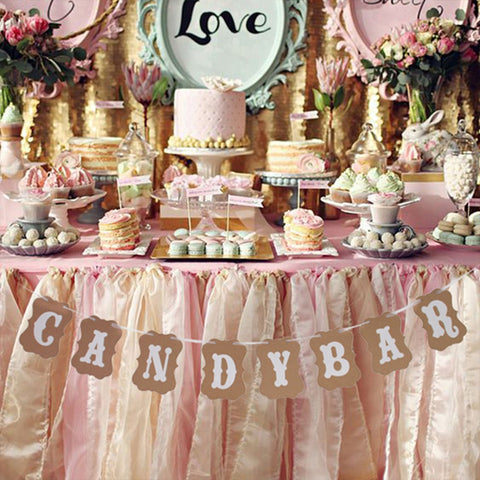 Candy Bar Hanging Bunting