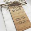 Image of Father of the Bride Wooden Table Place Cards