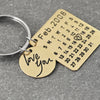 Image of Wedding Date Key Chain