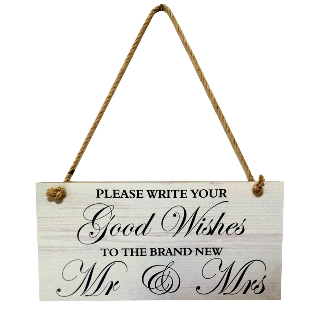Good Wishes To Mr & Mrs Sign