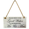 Image of Good Wishes To Mr & Mrs Sign