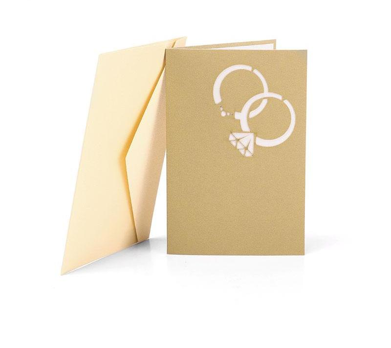 Wedding Ring Pop Up Card