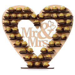 Mr & Mrs Heart Chocolate Stand