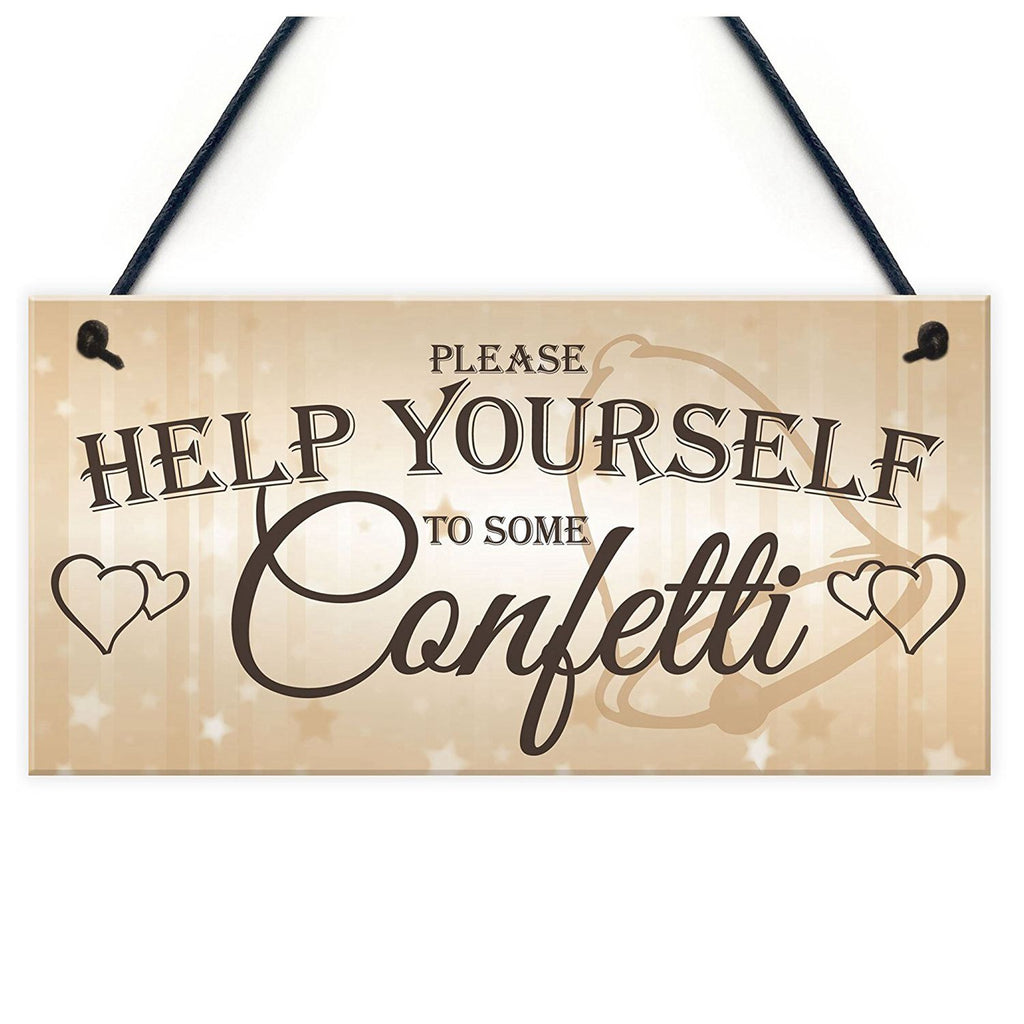 Confetti Wooden Hanging Sign