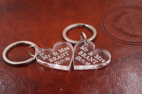 Personalised Acrylic Heart Key Chains