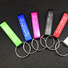 Personalised Keyring Bottle Openers With Organza Bags - 50pcs