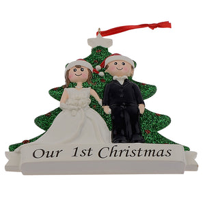 Personalised Our 1st Christmas Resin Tree Decoration