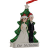 Image of Personalised Our 1st Christmas Resin Tree Decoration