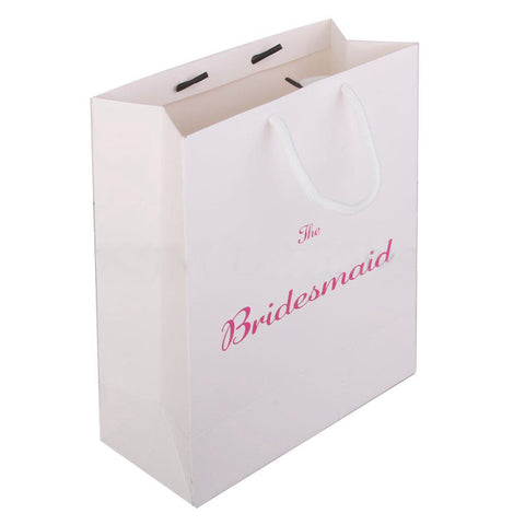 Bridesmaid Pink Paper Gift Bag