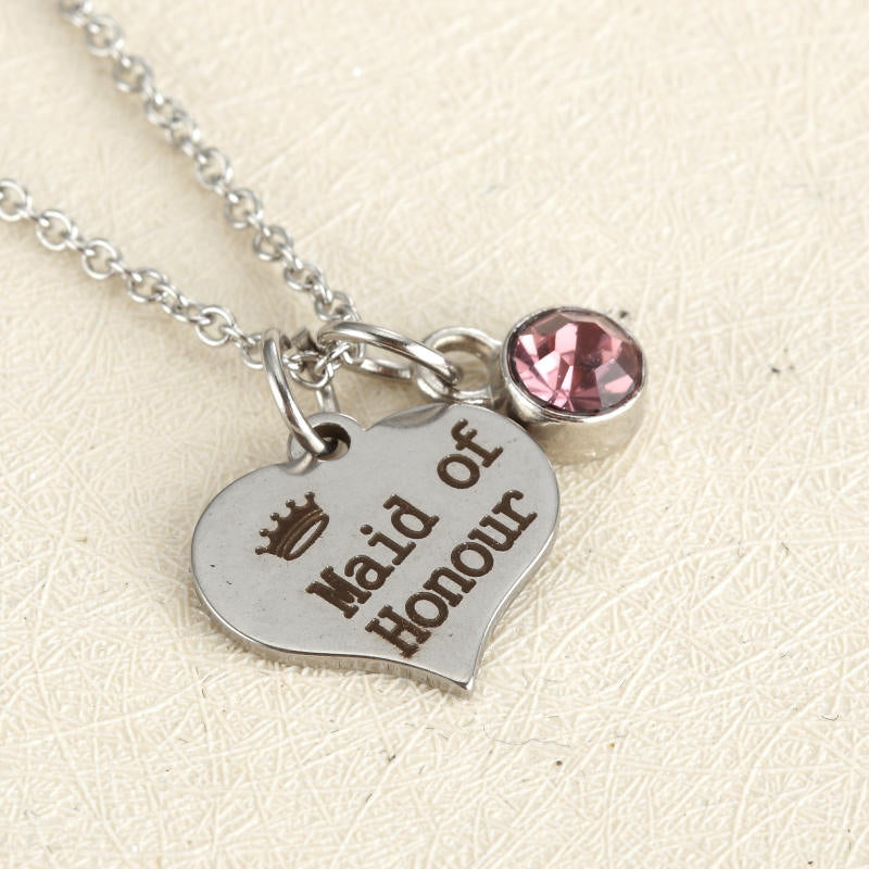 Maid of Honour Heart Necklace