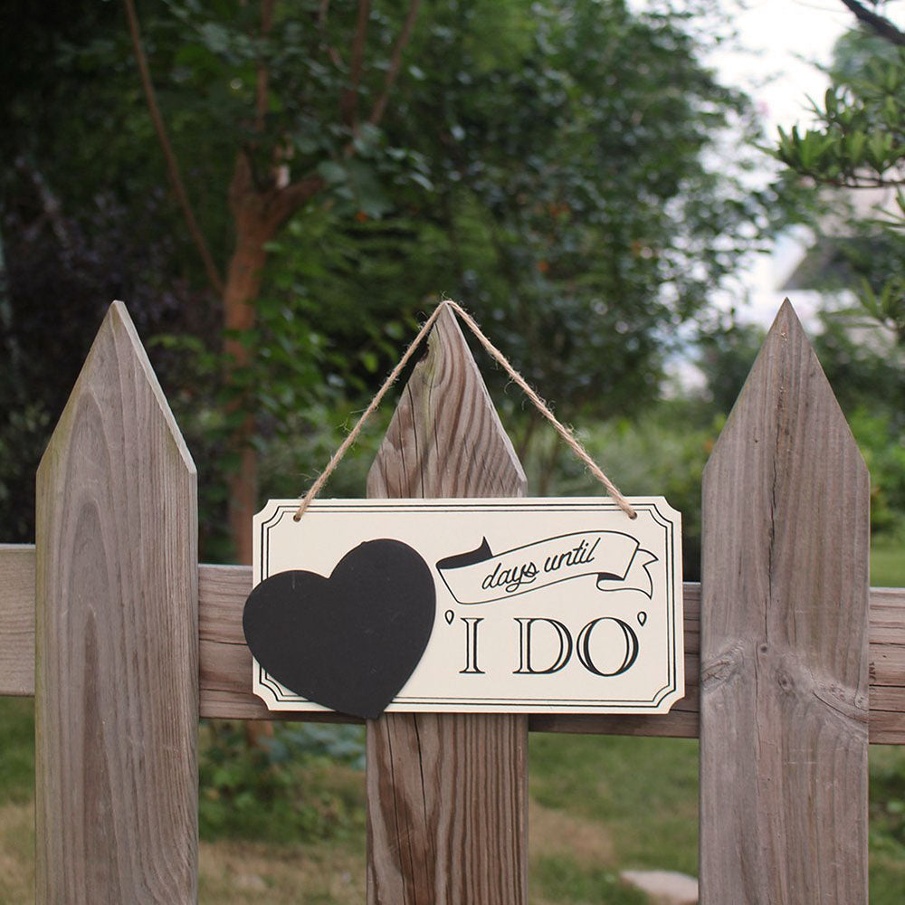 'I Do' Hanging Chalkboard