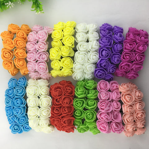 144 Piece Mini Foam Roses