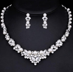 Elegant Pearl Bridal Jewellery Set