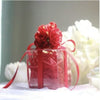 Image of Silk Flower Topped Plastic Favor Boxes - 10pcs