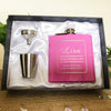 Image of Personalised Hip Flask Gift Set