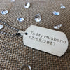 Image of Personalised Dog Tag Necklace