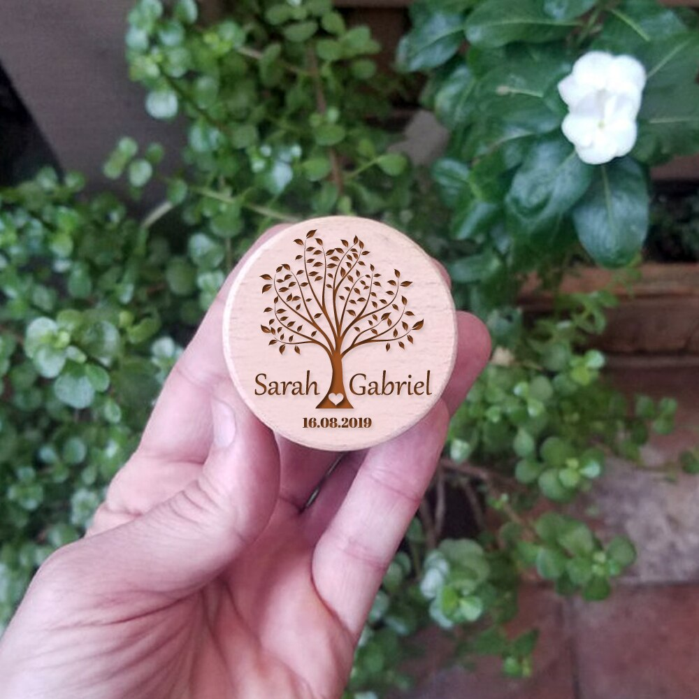 Personalised Tree Wooden Ring Box