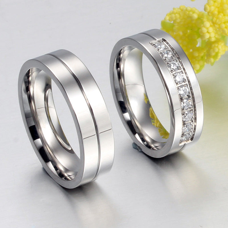 Centre Detail His & Hers Wedding Bands