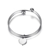 Image of Personalised Heart Pendant Bangle