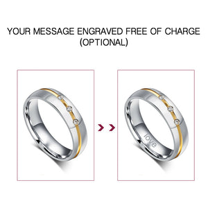 Vine Groove Silver Leaf His & Hers Wedding Bands