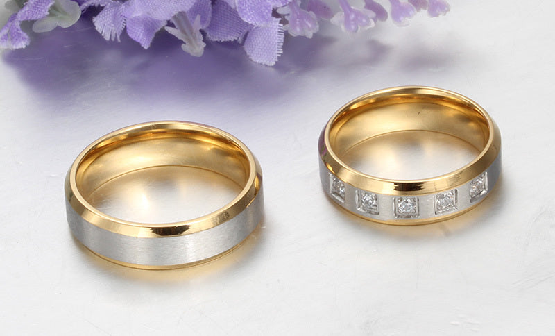 Matte Ribbon His & Hers Wedding Bands
