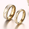 Image of Zig Zag Groove Matte Ribbon His & Hers Wedding Bands